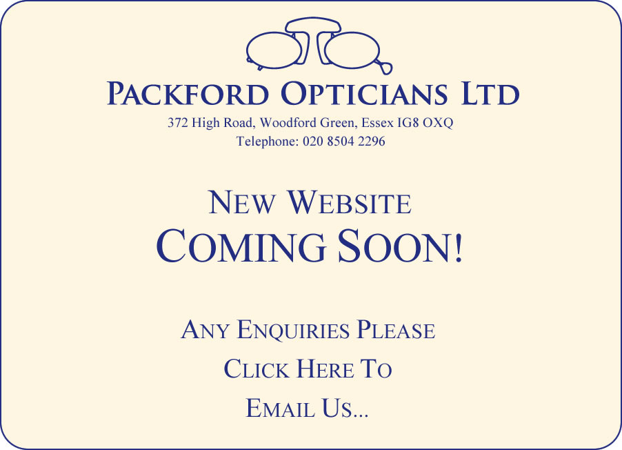 Packford Opticians Ltd - New Website Coming Soon!